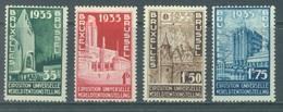 BELGIQUE - 1934 - MNH/*** EXPOSITION UNIVERSELLE 1935 BRUXELLES - COB 386-389 - Lot 19954 - Unused Stamps