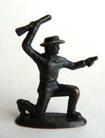 Rare FIGURINE KINDER  METAL COW BOYS 3 70's - U-EI Cowboys (2) - Metal Figurines