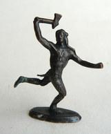 Rare FIGURINE KINDER  METAL INDIEN 1 70's - U-EI Indianer (2) - Figurines En Métal