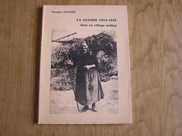 LA GUERRE DE 1914 1918 DANS UN VILLAGE DE WALLON Régionalisme Doische Gimnée Givet Guerre 14 18 Occupation Allemande - Guerre 1914-18