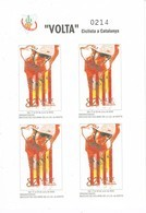 33366. Bloque 4 Viñetas VOLTA Ciclista A Catalunya 2002, Sin Dentar, Label, Cinderella ** - Errors & Oddities