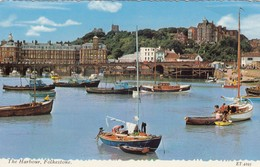 Postcard The Harbour Folkestone Kent PU 1969 My Ref  B13460 - Folkestone