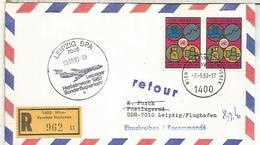 NACIONES UNIDAS WIEN VUELO ESPECIAL A LEIPZIG 1983 FERIA - Vienna - Oficina De Las Naciones Unidas