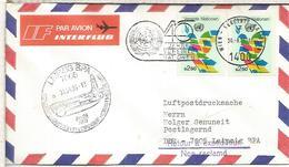 NACIONES UNIDAS WIEN VUELO ESPECIAL A LEIPZIG 1985 FERIA - Vienna - Oficina De Las Naciones Unidas