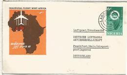 NIGERIA INAUGURAL FLIGHT WEST AFRICA 1962 BOEING JET 720 B - Nigeria (1961-...)