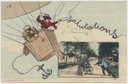 Salutations - Editeur Bergeret, Illustration PB - Bergeret