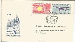 CHECOSLOVAQUIA PRIMER VUELO LUFTHANSA PRAHA FRANKFURT 1965 - Checoslovaquia