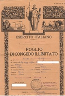 Alpini Foglio Congedo Caporal Maggiore Di Villaga Vicenza Anno 1959 - Documenti