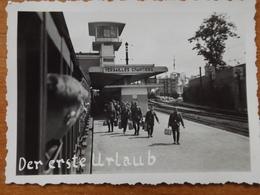 WW2 GUERRE 39 45 VERSAILLES CHANTIER  GARE TRAIN SOLDATS ALLEMANDS PERMISSIONNAIRES - Versailles