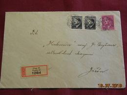 Lettre De 1944 En Recommandé Au Depart De Prague - Bohême & Moravie