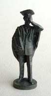 Rare FIGURINE KINDER  METAL LES METIERS 2 70's - AVOCAT JURIST (3) - Metal Figurines