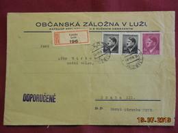 Lettre De 1944 En Recommandé à Destination De Prague - Bohême & Moravie