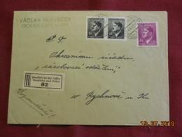 Lettre De 1943 En Recommandé Au Depart De Doudleby Nad Orlici - Bohême & Moravie