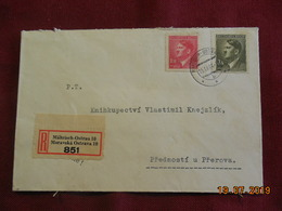Lettre De 1944 En Recommandé Au Depart De Moravska Ostrava à Destination De Predmosti U Prerova - Bohême & Moravie