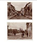 2 CARTOLINE, VERE FOTOGRAFIE, DELLA CITTADINA DI MONTEDORO-CALTANISSETTA 1945 - Caltanissetta