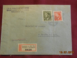 Lettre De 1944 En Recommandé Au Depart De Roudnice Nad Labem - Bohême & Moravie