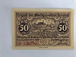 Allemagne Notgeld Jarmen 50 Pfennig - [ 3] 1918-1933 : Weimar Republic