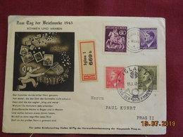 Lettre De 1943 En Recommandé à Destination De Prague - Bohême & Moravie