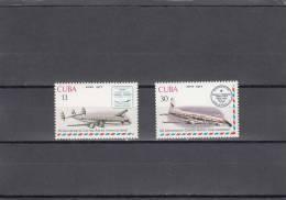 Cuba Nº A265 Al A266 - Aéreo