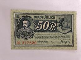 Allemagne Notgeld Julich 50 Pfennig - [ 3] 1918-1933 : Weimar Republic