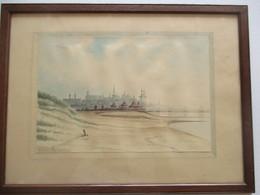 Aquarelle - Blankenberghe En 1896 - Aquarel