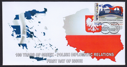 Poland 2019 100 Years Diplomatic Relations With Greece Cover Unofficial FDC Booklet - FDC