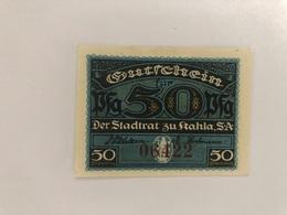Allemagne Notgeld Kahla 50 Pfennig - [ 3] 1918-1933 : Weimar Republic