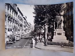 Catania Via Etnea E Monumento A Garibaldi Cartolina A + VIAGGIATA 1955 - Catania