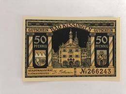 Allemagne Notgeld Kissingen 50 Pfennig - [ 3] 1918-1933 : Weimar Republic