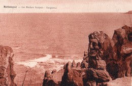 35 ROTHENEUF . Les Rochers Sculptés Monsieur De Rotheneuf . CPA  Année 1930 Edit H.BREBION,  Impeccable N°2 - Rotheneuf