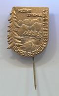 Alpinism Mountaineering Climbing Montanismo - FUŽINE Slet  1954. Gorski Kotar, Croatia, Vintage Pin, Badge, Abzeichen - Alpinismus, Bergsteigen