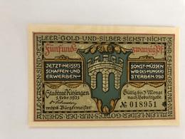 Allemagne Notgeld Kitzingen 25 Pfennig - [ 3] 1918-1933 : Weimar Republic