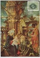 1955  -  ANBETUNG  F.A.ACKERMANN  Timbre Caritas - Maximum Cards
