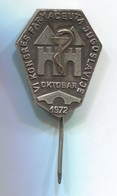 VI. Congress Pharmaceutical Yugoslavia 1972. Vintage  Pin, Badge, Abzeichen, D 30 X 25 Mm - Medical