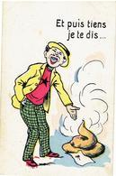HUMOR - HUMOUR - Blijf Jij Maar Staan - Punckie Moet Zitten - Chien - Hond - Dog - Humor