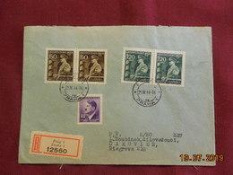 Lettre De 1944 Au Depart De Prague à Destination De Riegrova - Bohême & Moravie