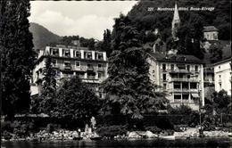 Cp Montreux Kt. Waadt Schweiz, Hotel Beau Rivage, Partie Am Wasser - VD Vaud