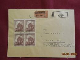 Lettre Express De 1943 à Destination De Prague En Recommandé - Bohême & Moravie
