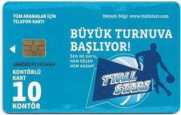 Turkey - TT (chip) - F-23A - TT Promo/Expo Card - TTALL Stars, 10U, 2010, Used - Turkey