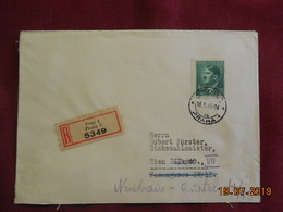 Lettre De 1945 En Recommandé - Bohême & Moravie