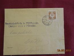 """Lettre De 1942 """" Timbre De Service"""" - Bohême & Moravie"""