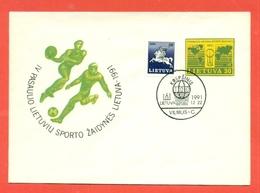 PALLAMANO - INTERI POSTALI -LITUANIA - LIETUVA - 1991 - Pallamano
