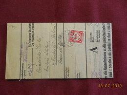 """Lettre (facture) De 1941 """" Timbre De Service"""" - Bohême & Moravie"""