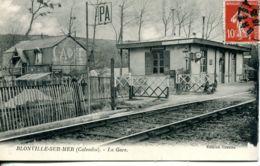 N°74453 -cpa Blonville Sur Mer -la Gare- - Francia