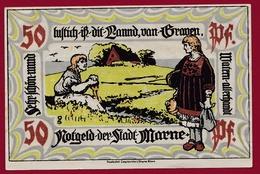 Allemagne 1 Notgeld 50 Pfenning Stadt Marne  ( RARE) Dans L'état Lot N ° 4371 - Verzamelingen
