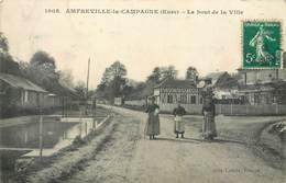 CPA 27 Eure Amfreville La Campagne Le Bout De La Ville - Frankrijk