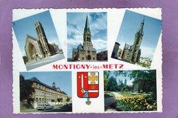 57 Montigny Les Metz Multivues L'église Sainte Jeanne D'arc Saint Joseph Le Temple Ecole Normale Le Jardin Botanique DS - Other Municipalities