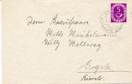 ERGSTE über Schwerte - 29.7.52 , 5 Pfennig Posthorn - BRD