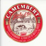 Etiquette De Fromage Camembert - Gerbe D'Or -  Jort - Bernières - Calvados. - Kaas