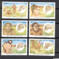 Cuba 1997 Hominids, Australopithecus, Java, Peking, Neanderthal, Cro-Magnon, Oberkassel. MNH Scott 3877-3882 Value $3.95 - Sellos